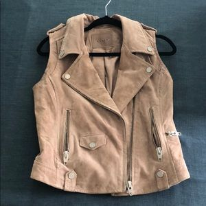 Leather motorcycle vest.